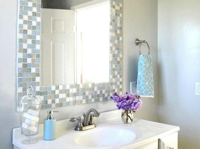 DIY Bathroom Ideas - Mirror Mosaic