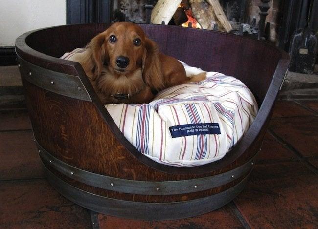 Wine Barrel DIY - Pet Bed