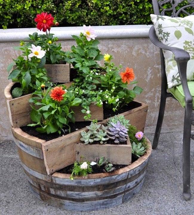 Wine Barrels DIY - Barrel Planter