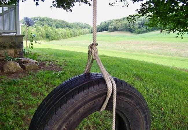 Kids DIY - Tire Swing