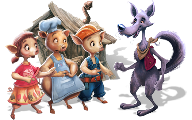 Bob Vila and the Three Little Pigs - Wolf