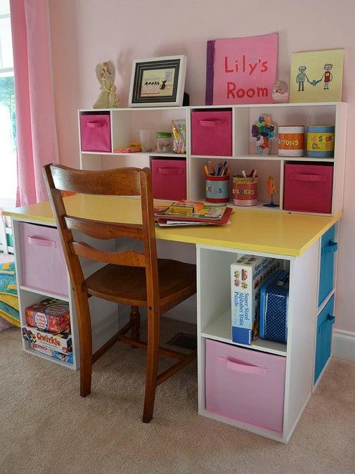 DIY Desk for Kids - Assembled