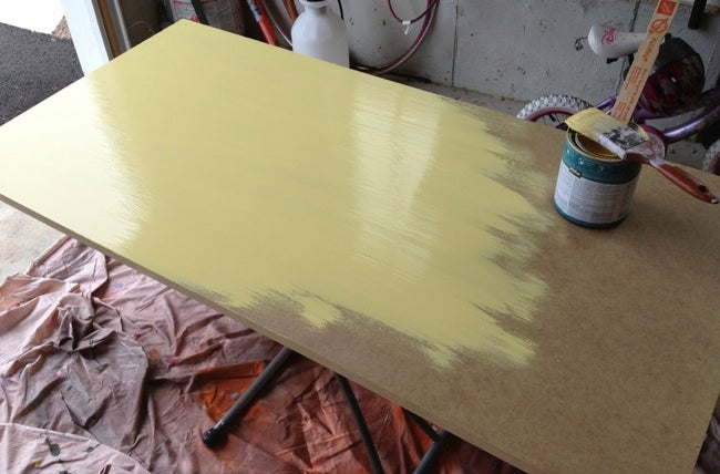 DIY Desk for Kids - Painting MDF