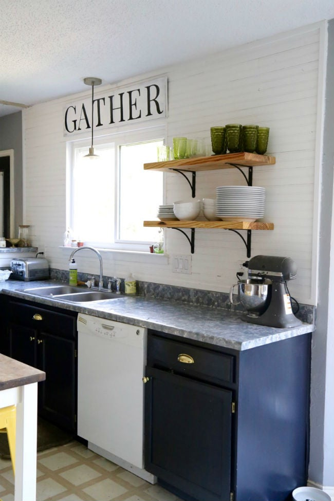DIY Countertops Made with Paint