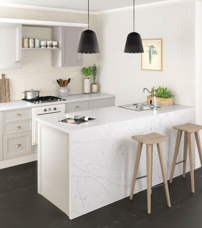 Engineered Stone Countertops: Silestone's Statuario