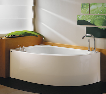 Ideas for Small Bathroom - Corner Tub