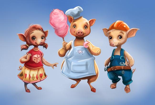 Bob Vila and the Three Little Pigs - Builder Pig