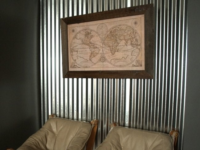 Corrugated Metal DIY - Accent Wall
