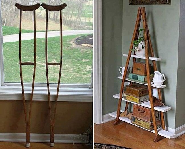 DIY Bookcases - Crutches