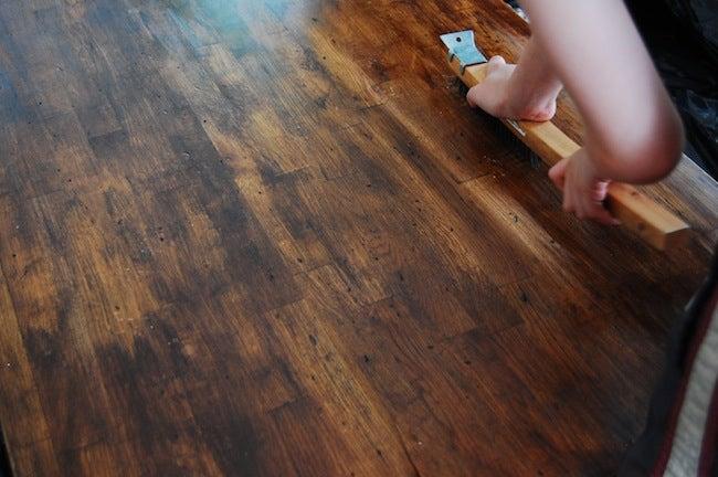 DIY Countertops - Distressed Wood