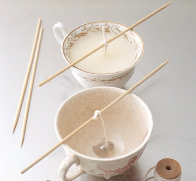 Old Dishes DIY - Candles