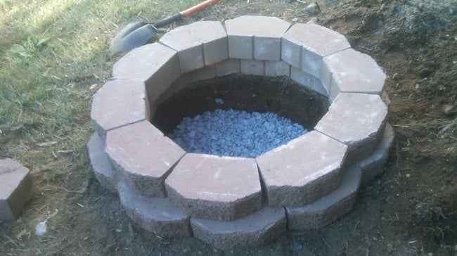 Build a Fire Pit - Installation