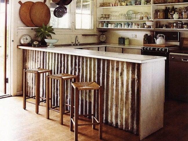 Corrugated Metal DIY - Island Surround