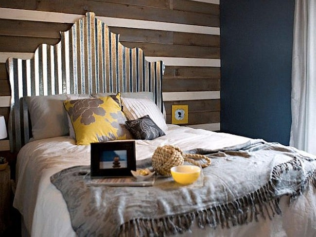 Corrugated Metal DIY - Headboard
