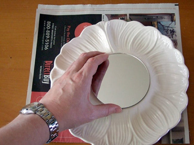 Old Dishes DIY - Mirror