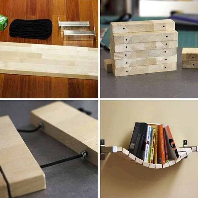 DIY Bookcases - Bending Shelves