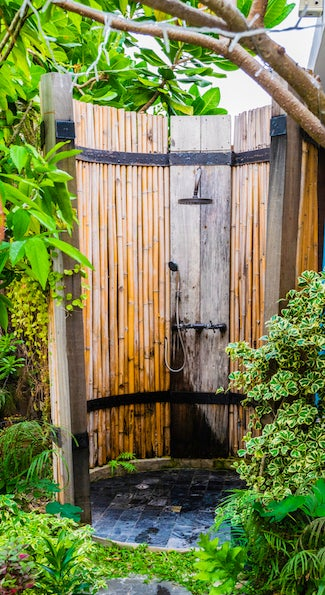 Outdoor Showers 101 - Privacy Enclosure