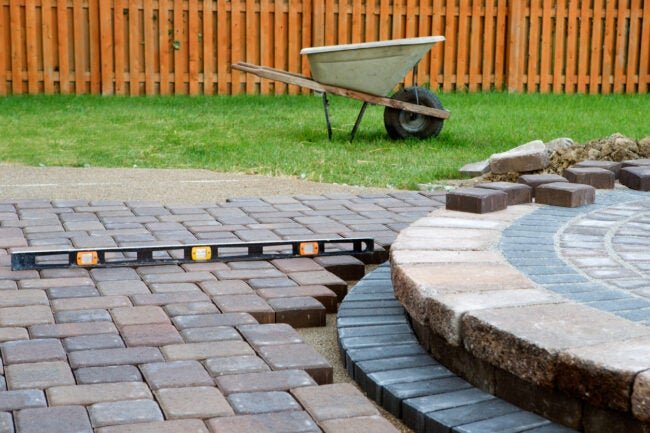 Patio Materials - Pavers