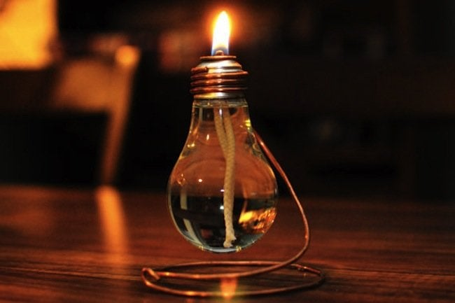 Light Bulb DIY Projects - Candle