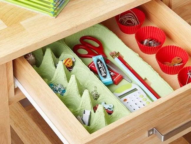 Reuse Egg Cartons - Organizer