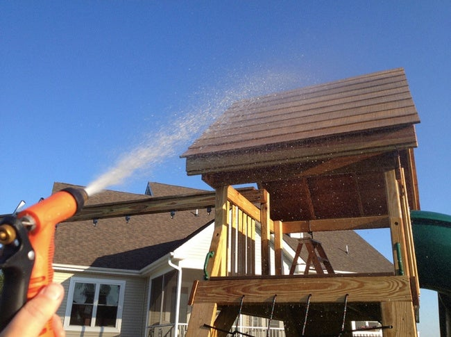 How to Stain Outdoor Wood - Cleaning