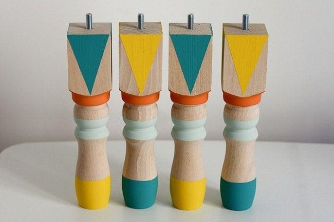 DIY Kids Furniture - Painted Feet