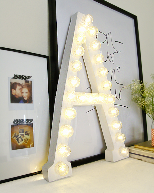 DIY Dorm Room Decor - Marquee Letter Lights