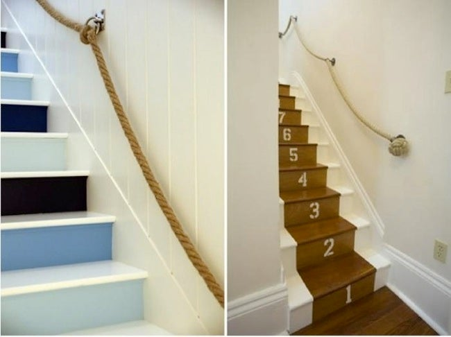 Hallway Ideas - Rope Railing