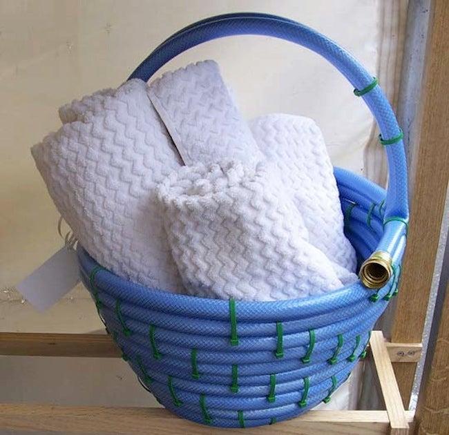 Repurposed Garden Hoses - Basket