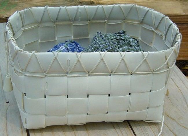 Repurpose Window Blinds - Basket