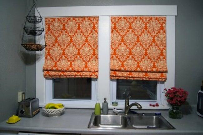 Repurpose Window Blinds - Roman Shades