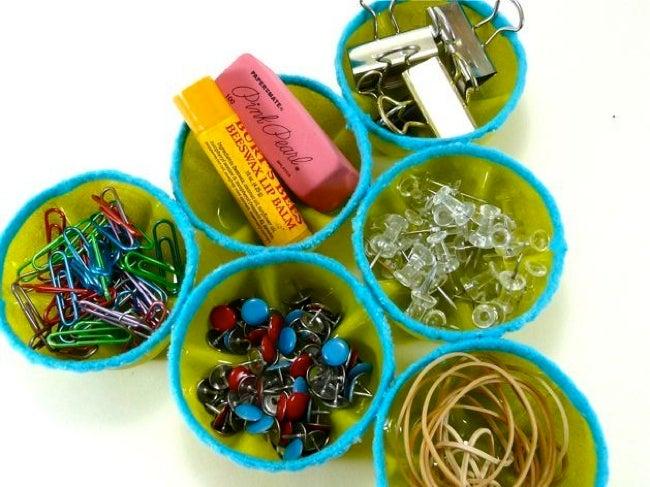 How to Reuse Plastic Bottles - Desk Organizer