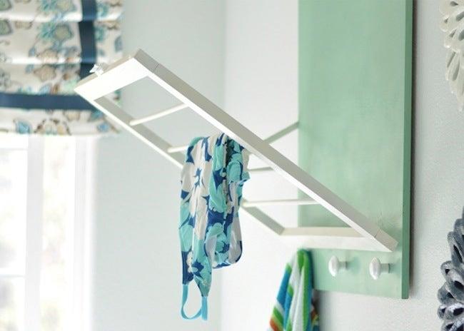DIY Laundry Room Storage - Drying Rack