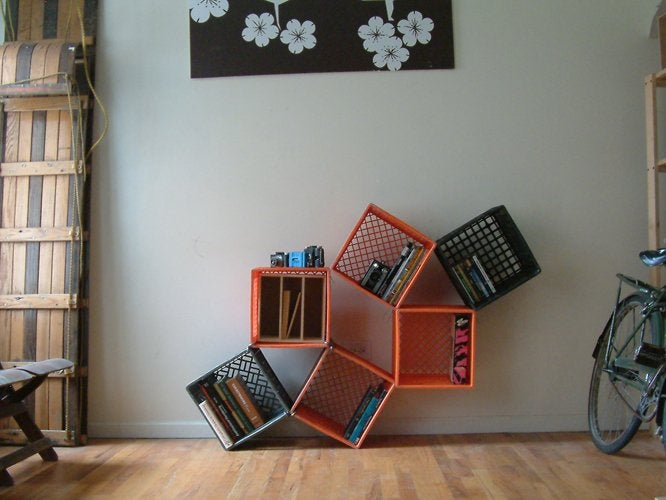 Uses for Milk Crates - Floating Shelves