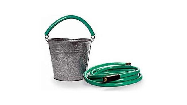 Repurposed Garden Hoses - Bucket Handle