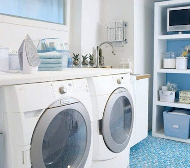 DIY Laundry Room Storage - Ironing Board