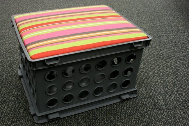 Uses for Milk Crates - Seat