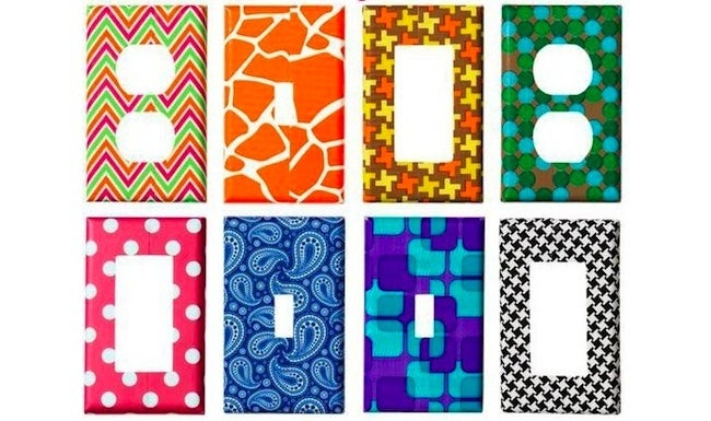 Duct Tape DIY Projects - Switch Plates