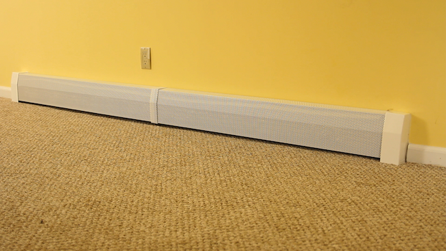 DIY Baseboard Heater Cover - After