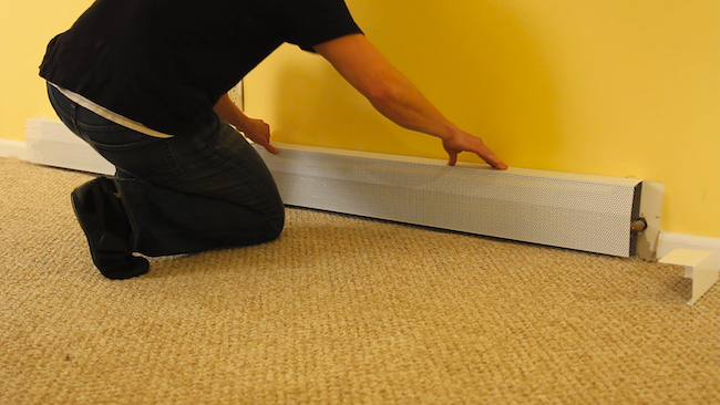 DIY Baseboard Heater Covers - Installing