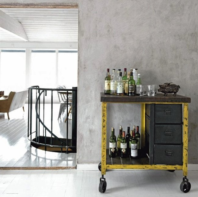 DIY File Cabinet Projects - Bar Cart