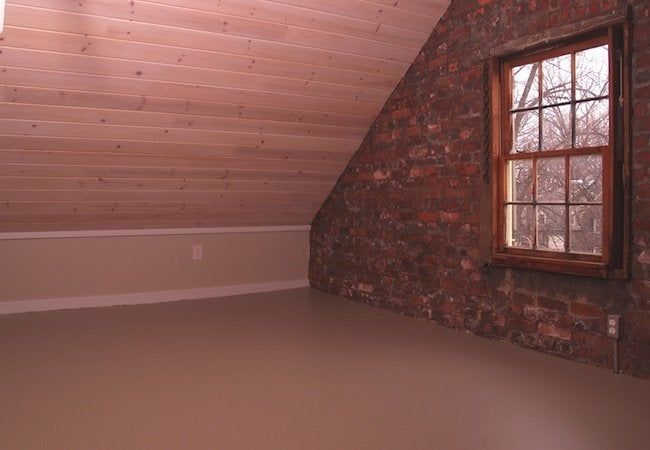 Painted Plywood Floors - Completed