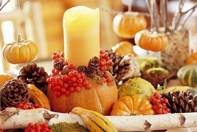 DIY Thanksgiving Decor - Centerpiece