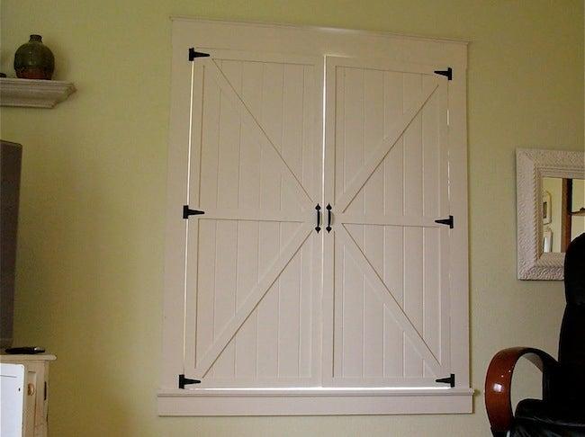 DIY Window Treatments - Shutters