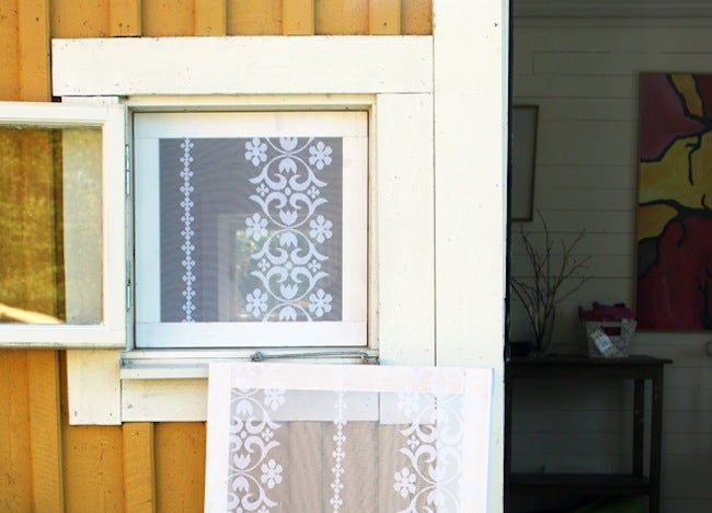 DIY Window Treatments - Lace Screen