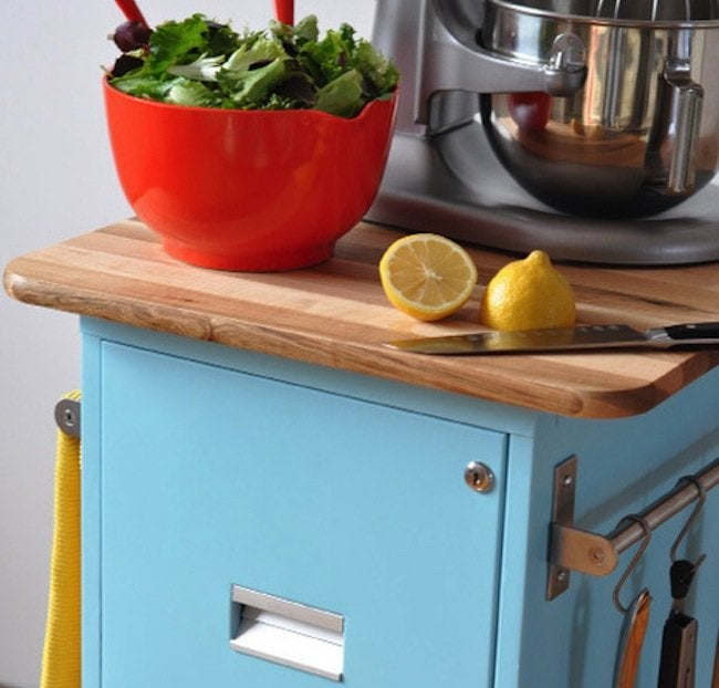 DIY File Cabinet Projects - Kitchen Island
