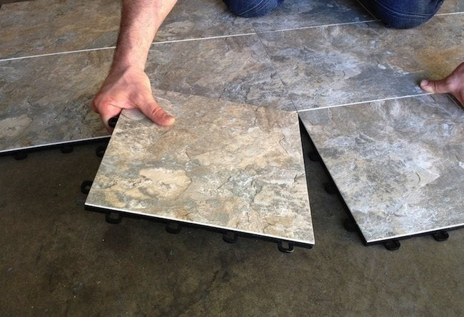 Basement Flooring - Modular Tile