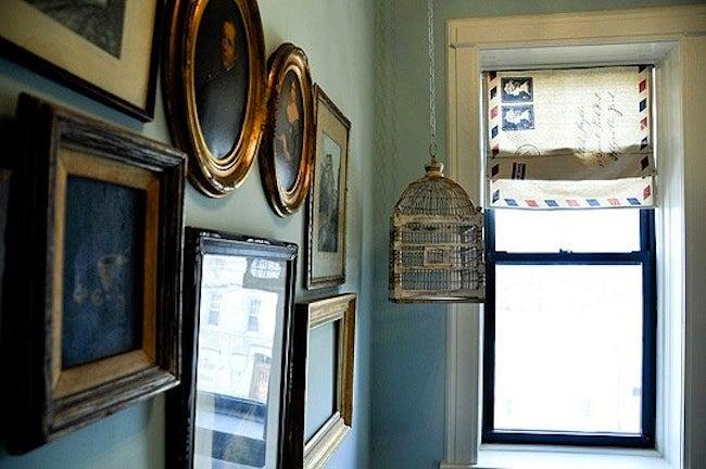 DIY Window Treatments - Painted Drop Cloth