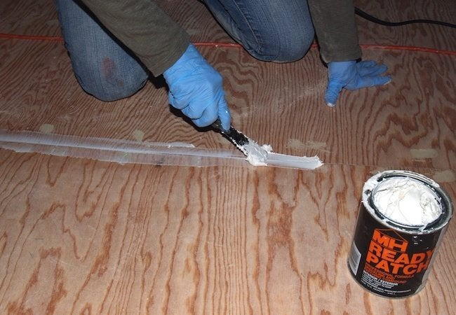 Painted Plywood Floors - Patching