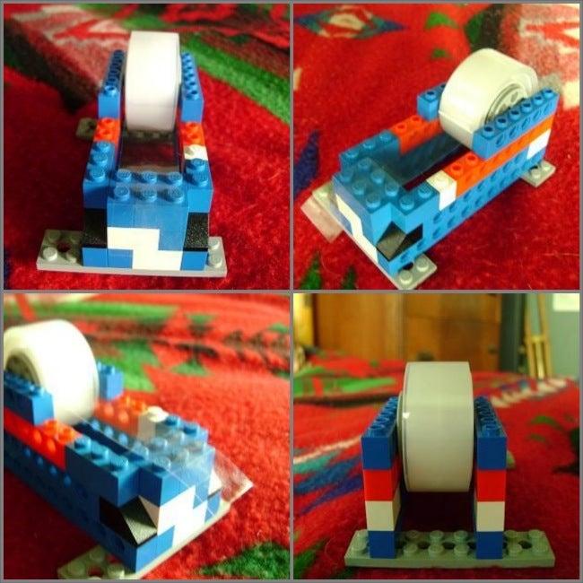 Repurpose Legos - Tape Dispenser